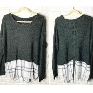 😊 Staccato Mixed Style Top Size Large Sweater